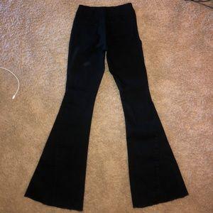 Denim - black bell bottom denim jeans